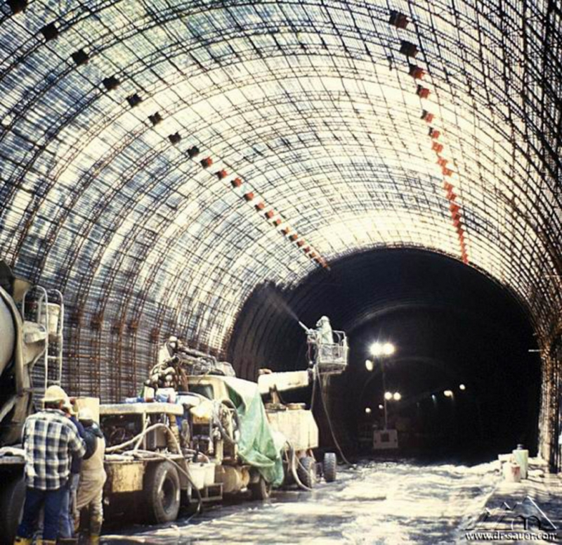 View of the Shotcrete Canopy Section ... & Berry Street Tunnel | Dr. Sauer u0026 Partners