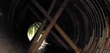 Tunnel prior to Rehabilitation with Timber Support
