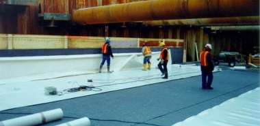 Installation of Waterproofing Membrane at Base Slab