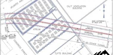 Plan View of the Binocular Tunnel