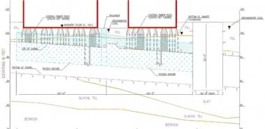 Longitudinal Section for the Binocular Tunnel