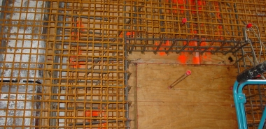 Reinforcement of a Blockout in the center wall