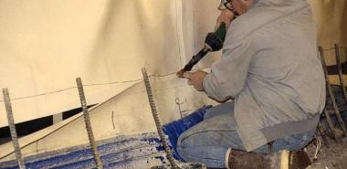 Welding of PVC Membrane