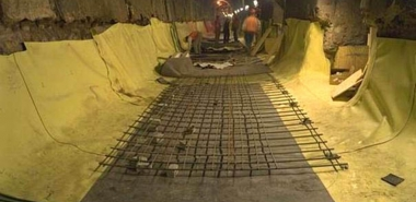 Early Construction Stage - Installation of the Tunnel Invert Waterproofing System
