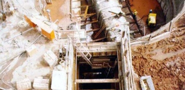 Overhead View of Shaft and Water Tunnel