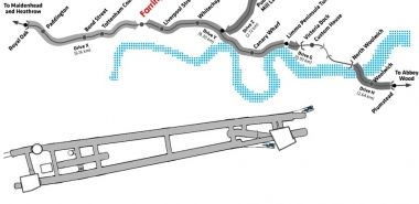 General view of the Crossrail route with focus on Farringdon Station