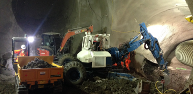 SCL Tunnel, Excavation of Escalator Tunnel