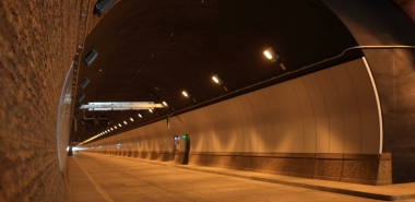 Finished southbound tunnel with textured cast-in-situ concrete