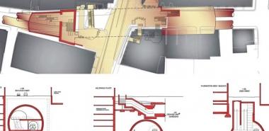 NATM alternative beneath MTA's Chinatown Station