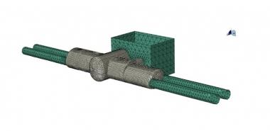 3D Finite Element Analysis Station, Box, Crosscut, Cavern, Tunnels