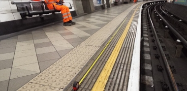 Defects survey on the existing station platform