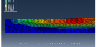Results plot of the 2D finite element consolidation analysis