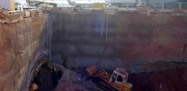 Excavation of Connector Shaft at Junction to Walkback Tunnel