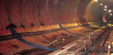 Flexible Membrane Waterproofing System applied to Tunnel Invert