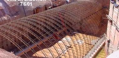 Shotcrete canopy, girder erection