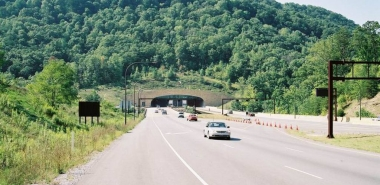 Finished South Portal, Cumberland Gap Tunnels, KY/TN Taken 09-2002 by N. Wageley (film)