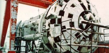 Robbins 6.6 m diameter TBM - partly erected